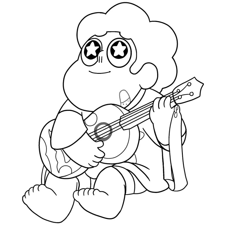 Free Steven Universe Coloring Page