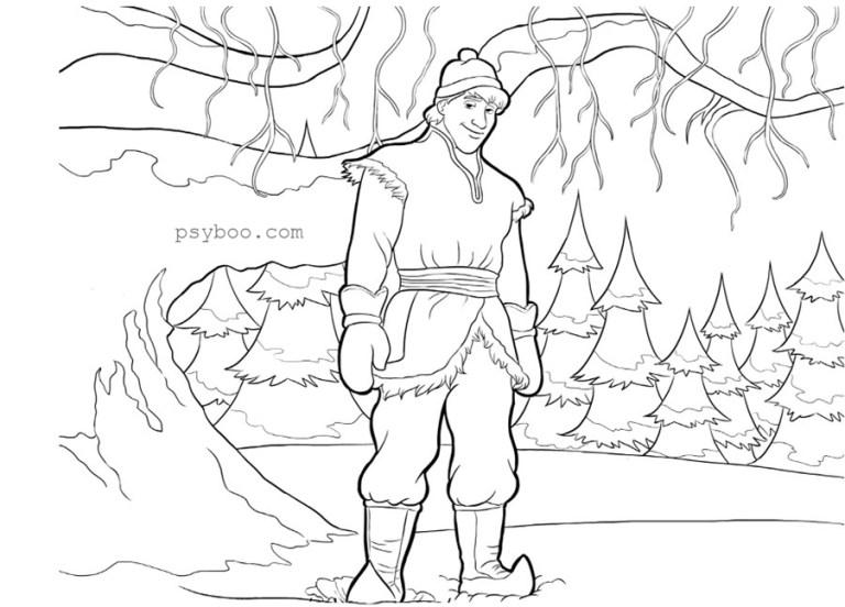 Frozen Coloring Pages Kristoff
