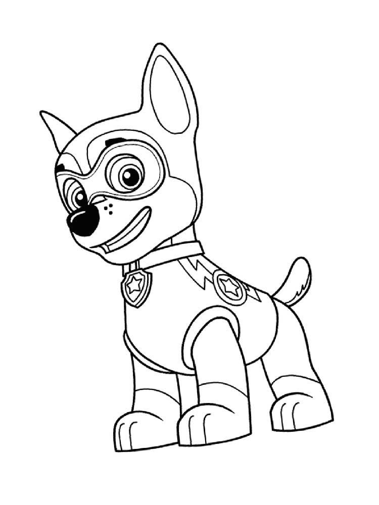 Full Size Mighty Pups Coloring Pages