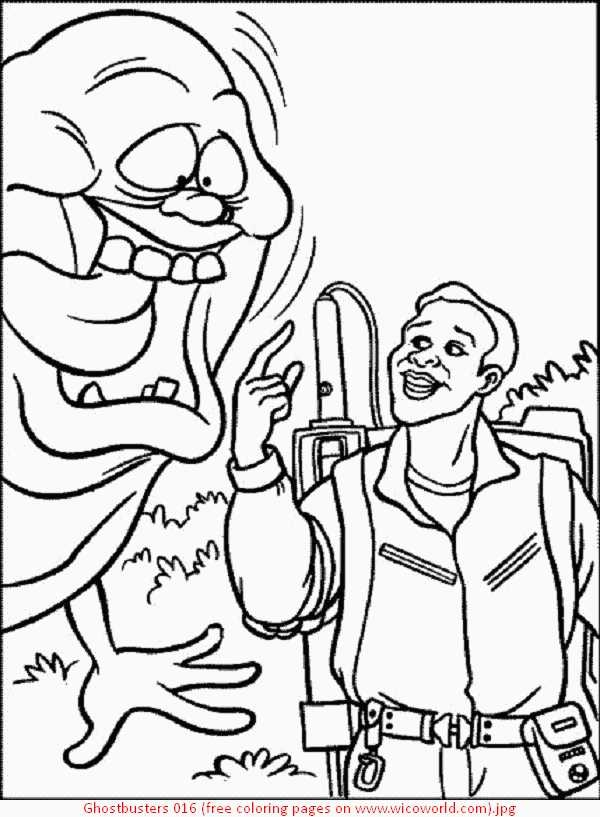 Ghostbusters Coloring Sheet
