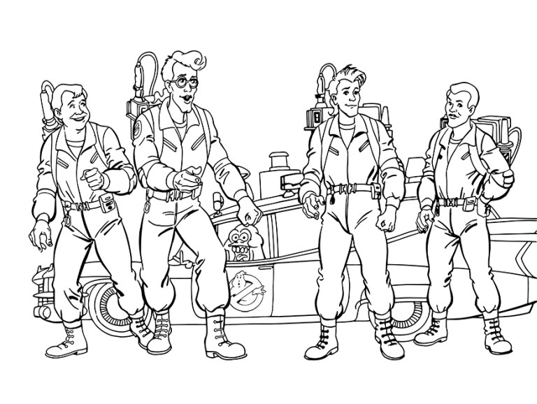 Ghostbusters Ecto 1 Coloring Pages