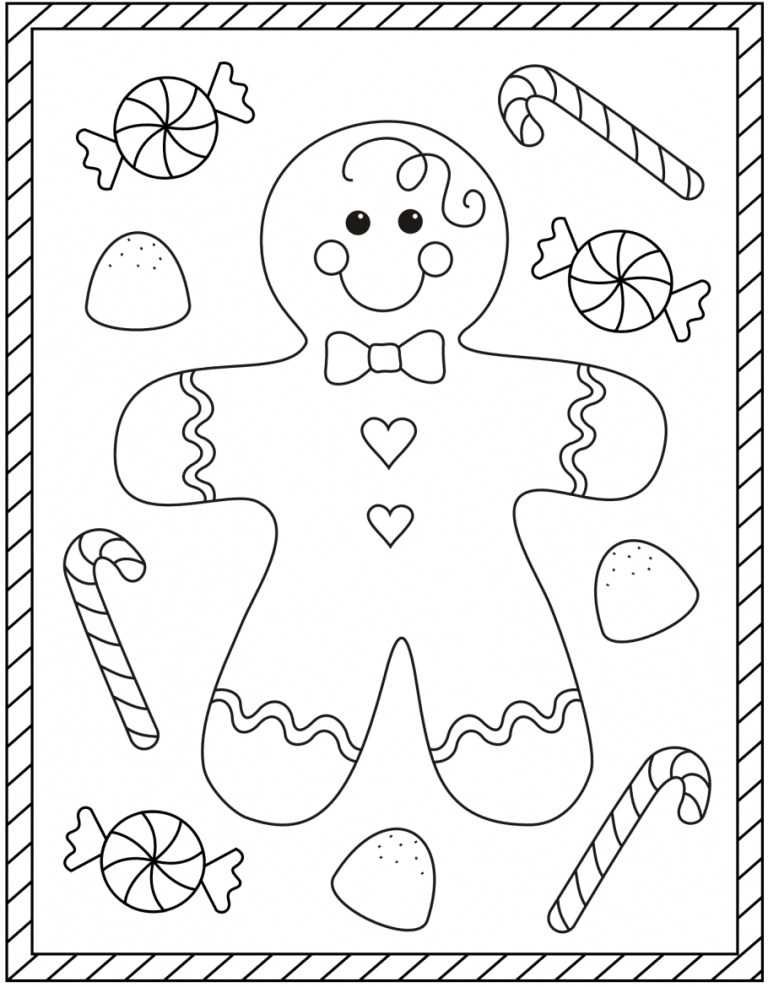 Gingerbread Pictures To Color