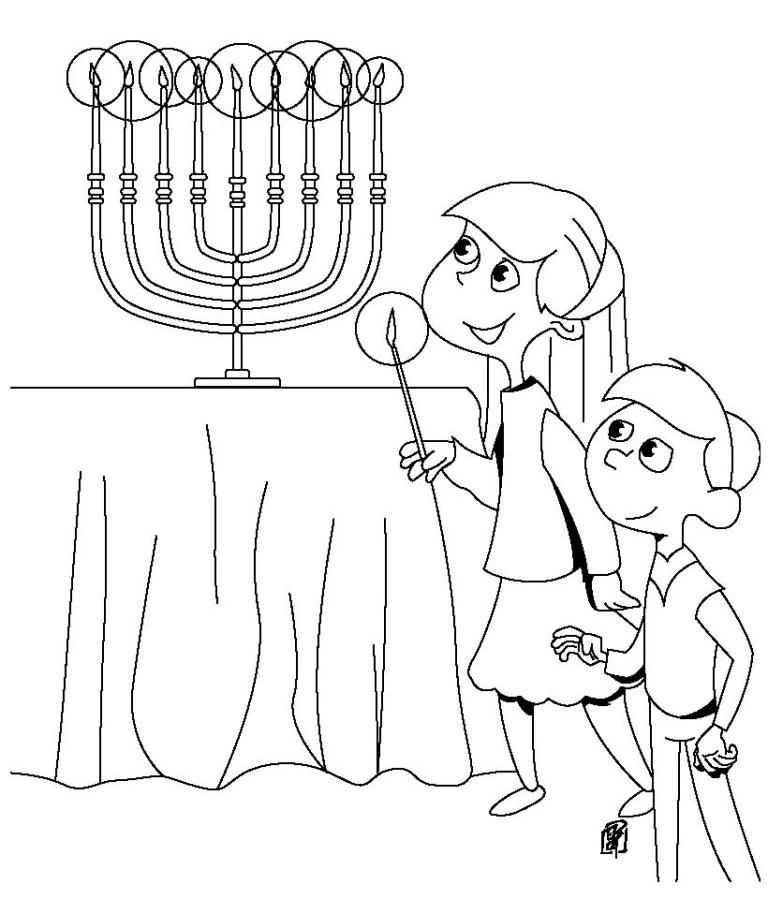 Hanukkah Coloring Pictures