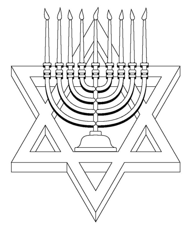 Happy Hanukkah Coloring Pages