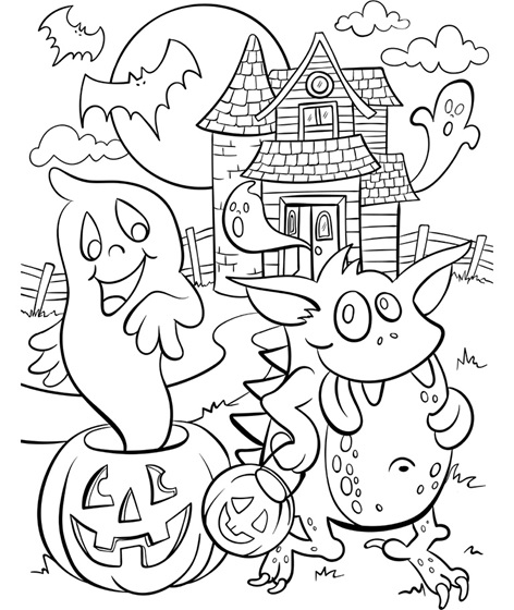 Haunted House Picture To Color