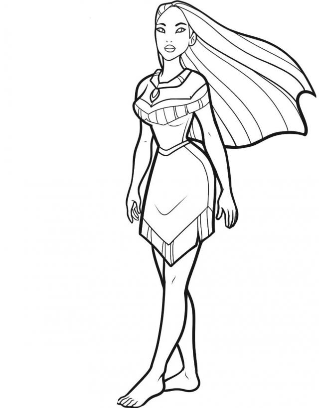 How To Draw Pocahontas Easy