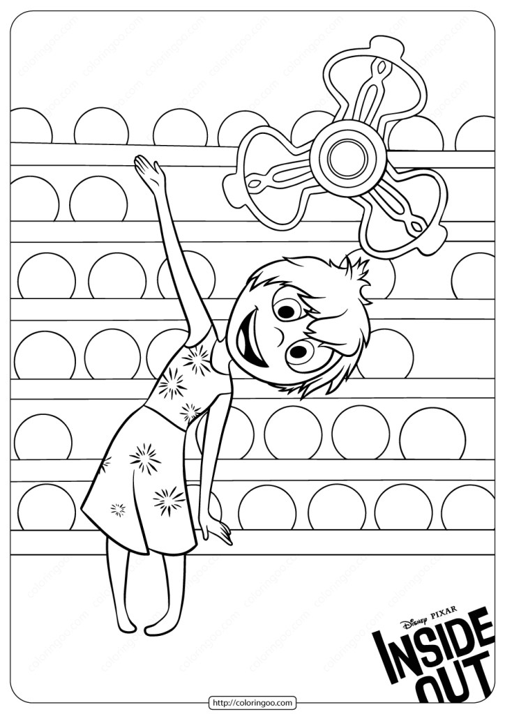 Inside Out Coloring Pictures