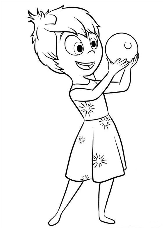 Inside Out Joy Coloring Page