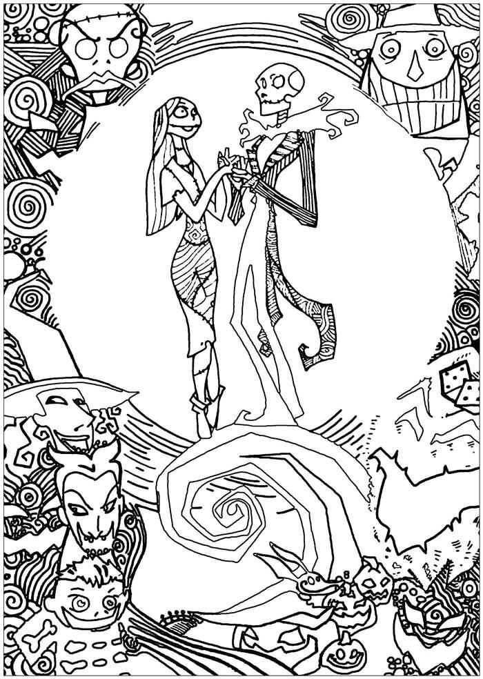 Jack Skelington Coloring Pages