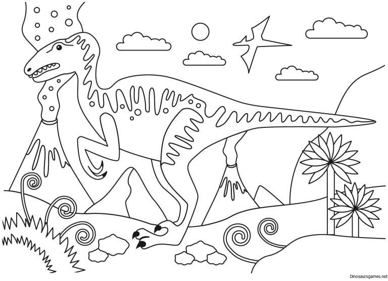 Jurassic Park Dinosaurs Coloring Pages