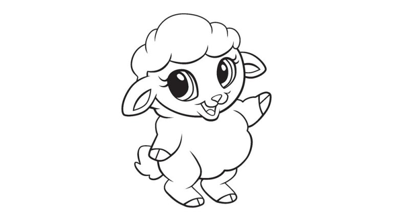 Lamb Coloring Sheet