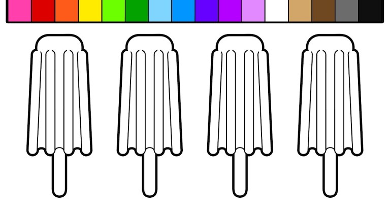 learn colors for kids and Popsicle