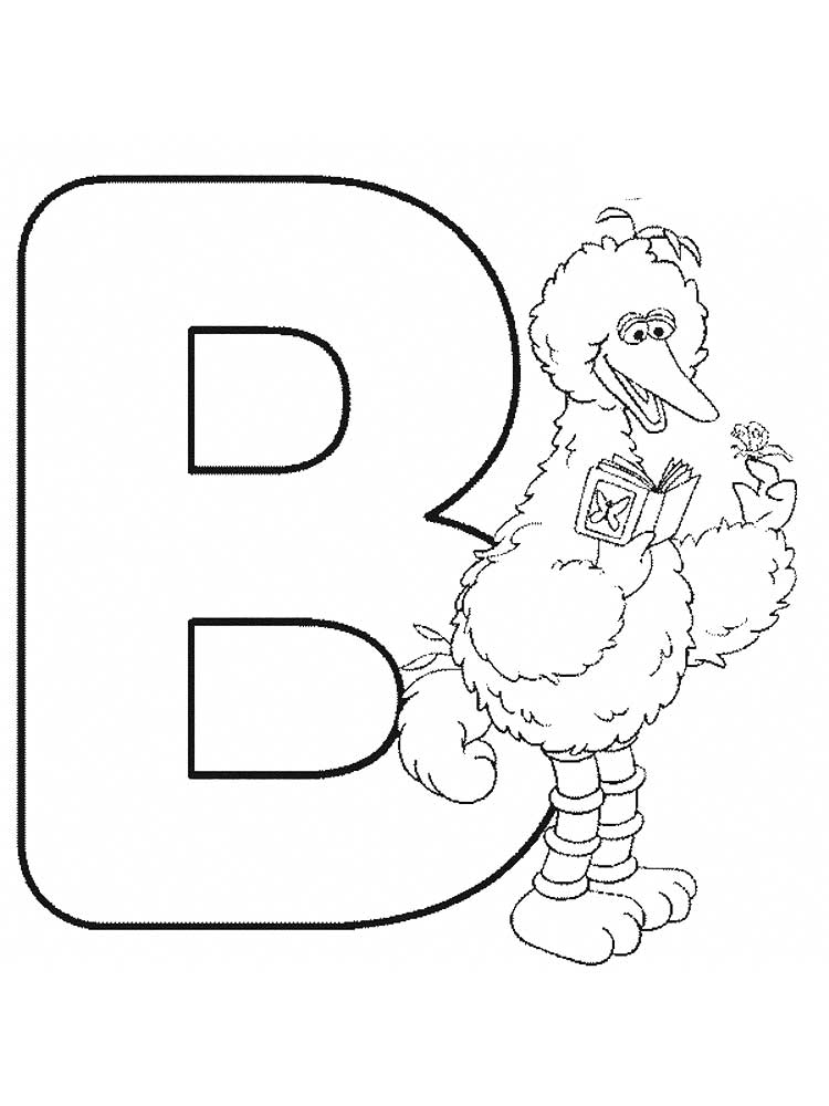 Letter B Color Pages