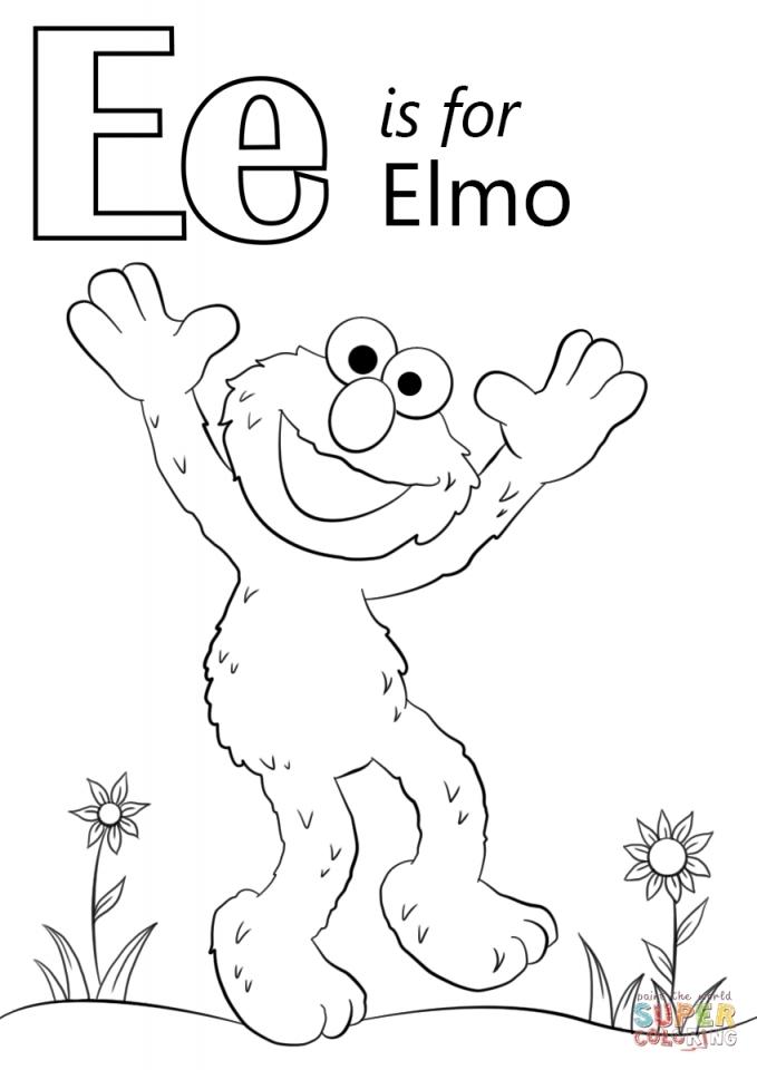 Letter E Color Page