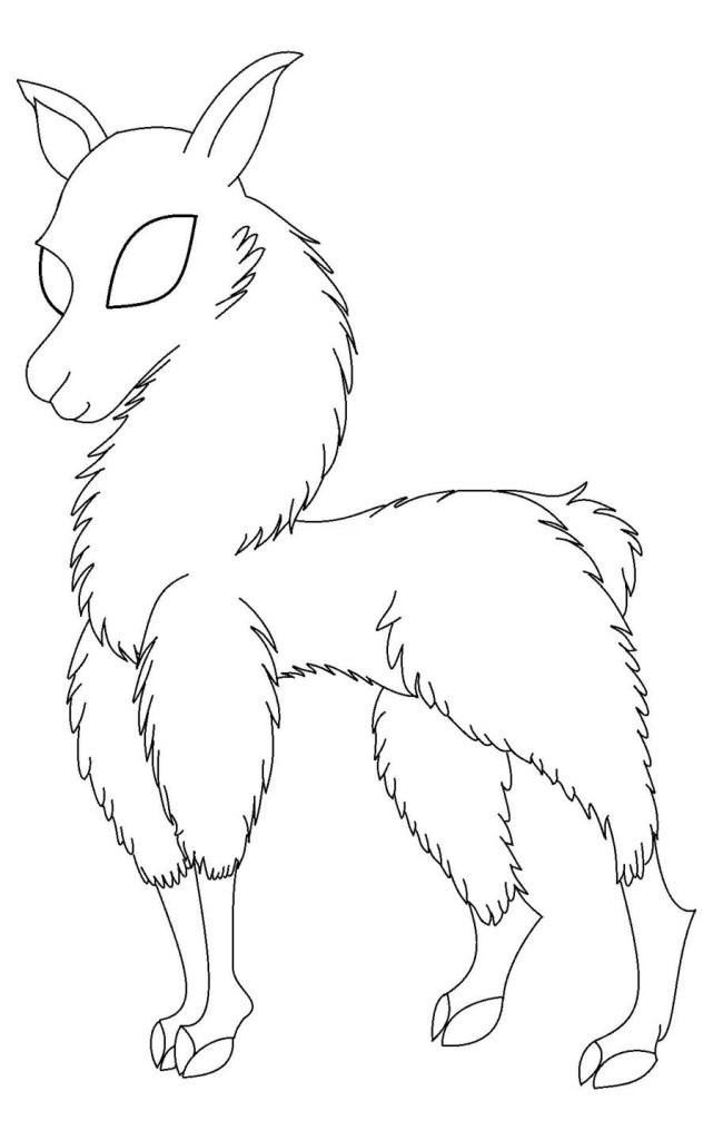 Llama Coloring Picture