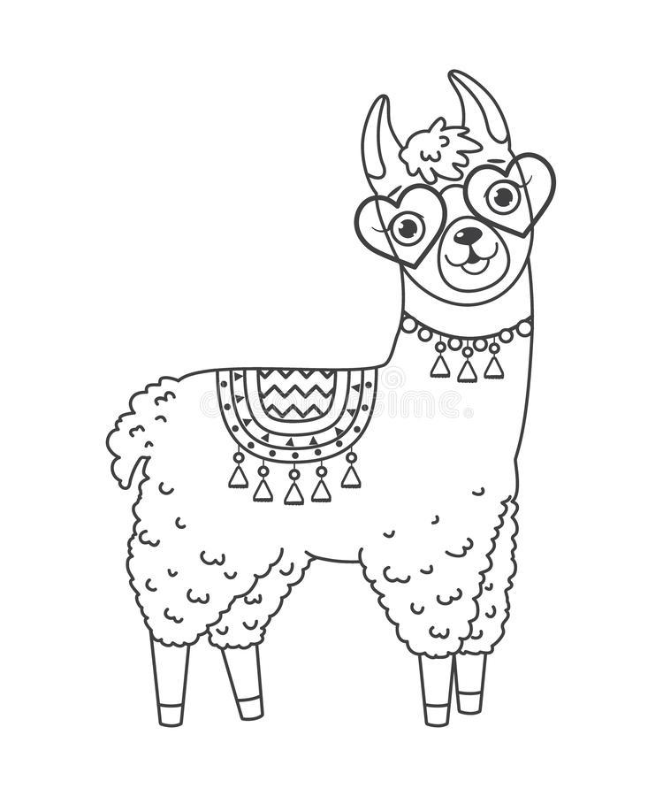 Llama Llama Coloring Page