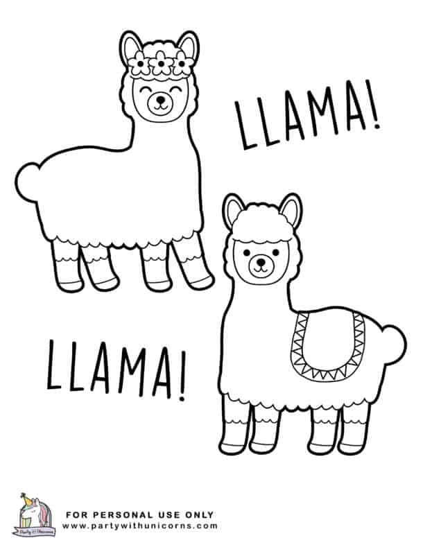 Llama Llama Coloring Pages