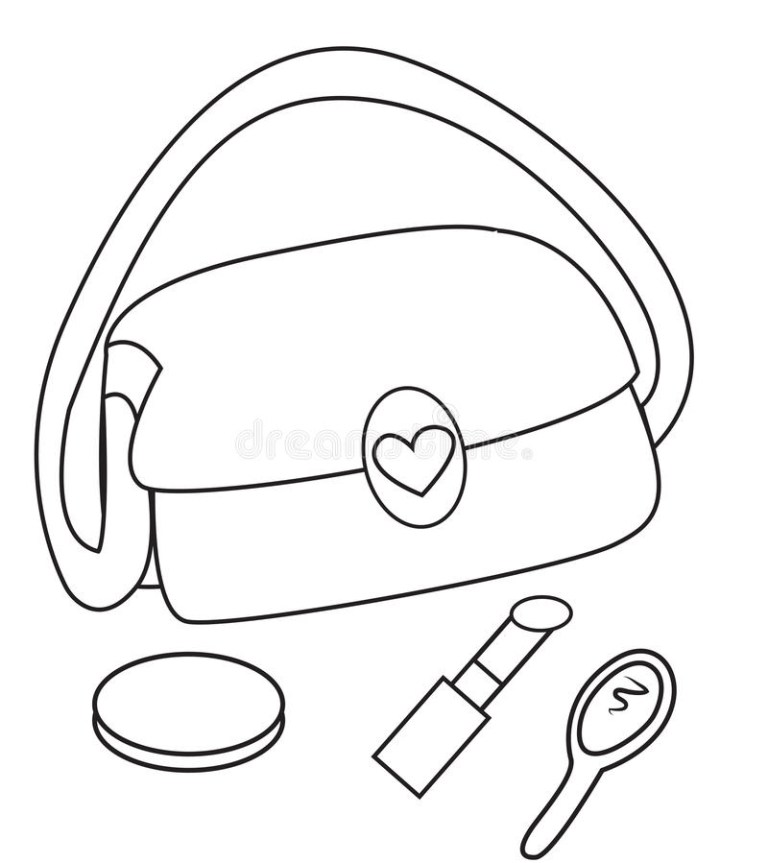 Makeup Coloring Pages for Girls