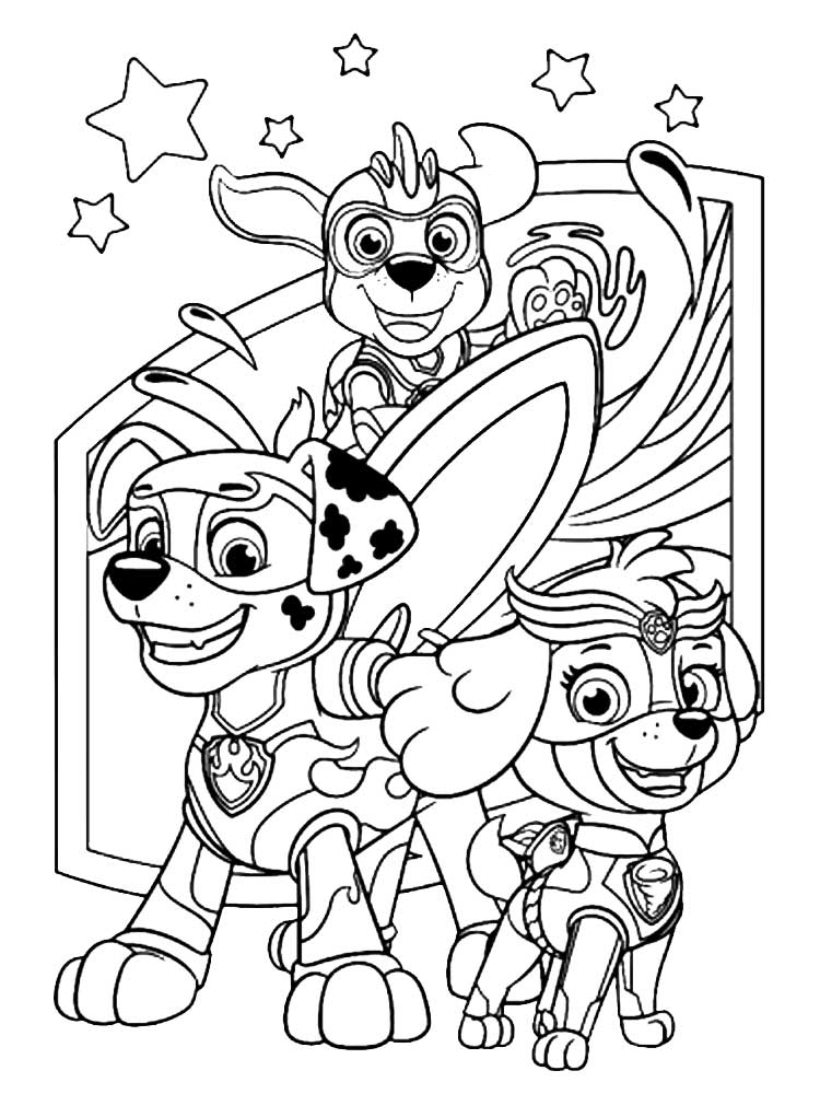 Mighty Pups Zuma Coloring Pages