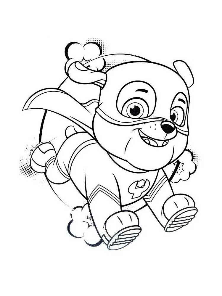 Mighty Skye Coloring Pages
