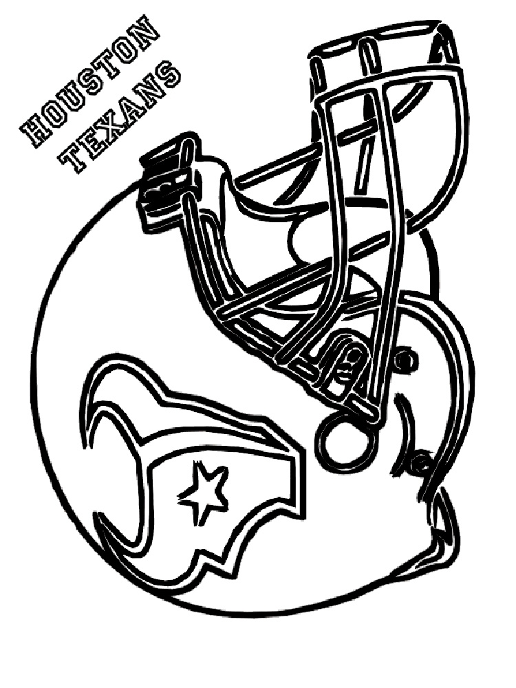 Nfl Helmets Coloring Pages