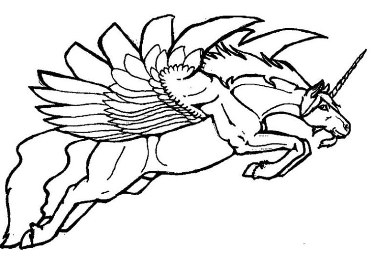 Pegasus Unicorn Coloring Pages