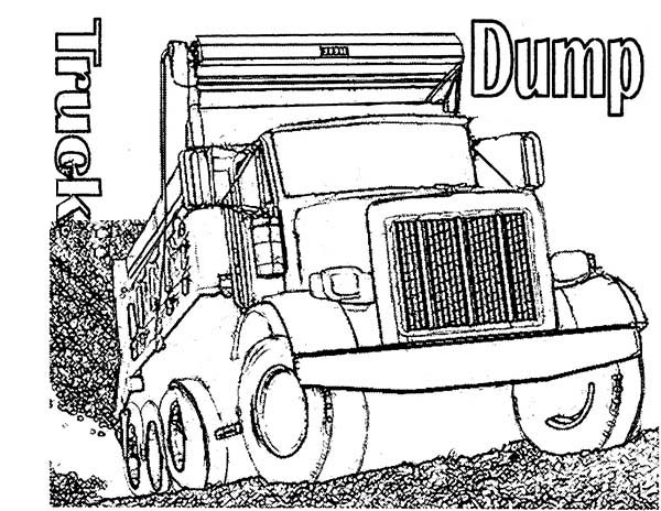 Peterbilt Truck Coloring Pages