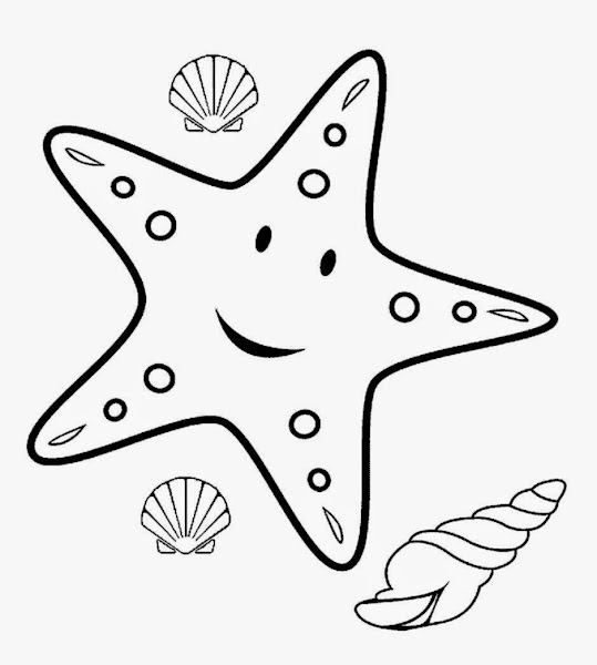 Picture Of A Starfish To Color