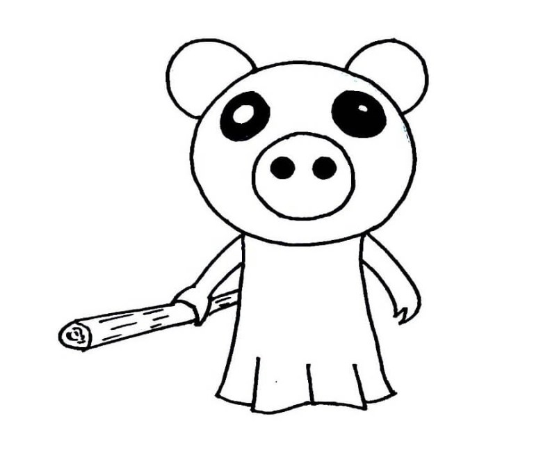 Piggy Roblox Coloring Pages
