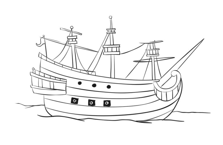 Pirate Ship Coloring Pages Printable