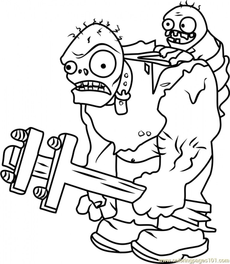 Plant Vs Zombies Coloring Pages
