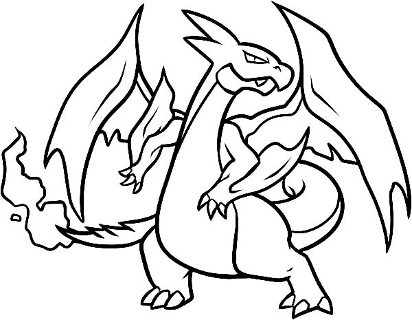 Pokemon Coloring Pages Charzard