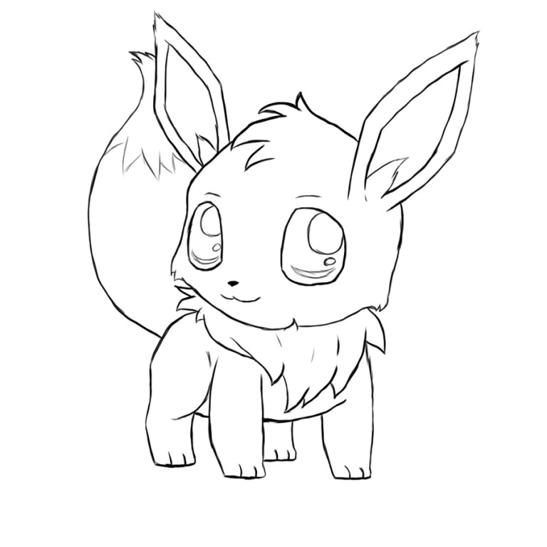 Pokemon Eevee Evolution Coloring Pages