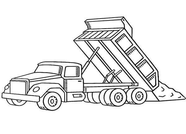 Printable Construction Trucks