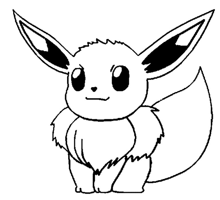Printable Eevee Evolutions Coloring Pages