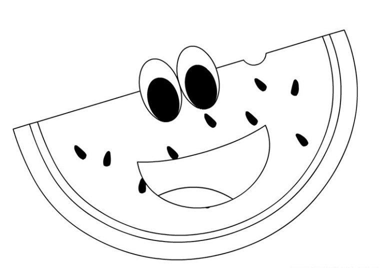 Printable Watermelon Coloring Pages