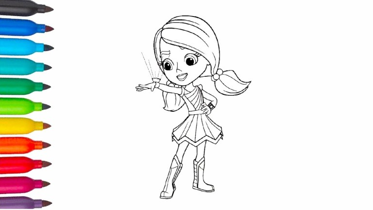 Rainbow Rangers Coloring Pages Free Downloads