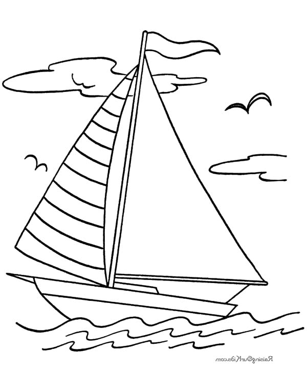 Sailboat Color Page