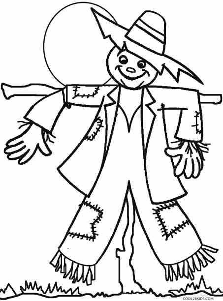 Scarecrow Coloring Page Free