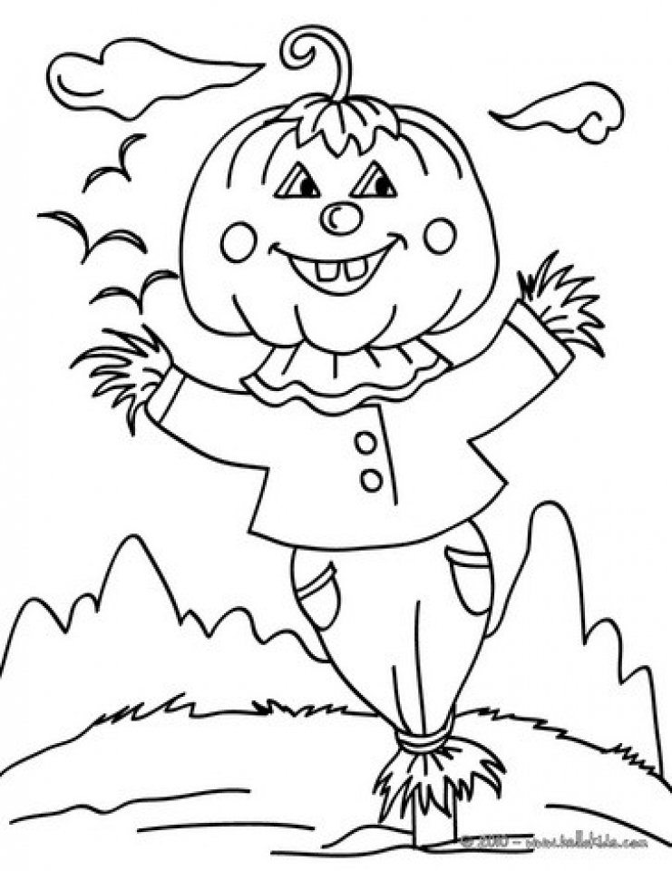 Scary Scarecrow Coloring Pages