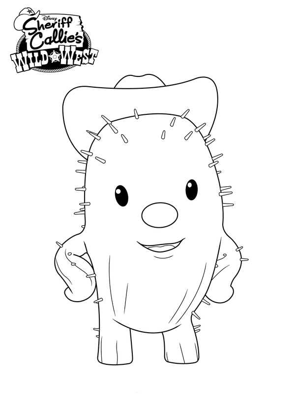 Sheriff Callie Color Pages Free Download