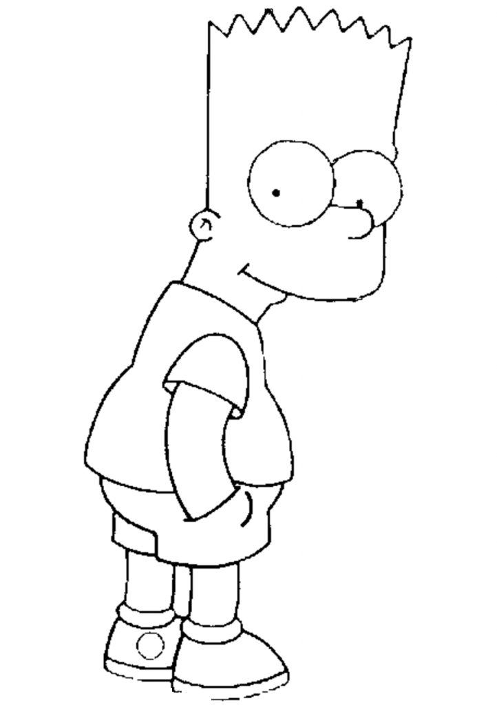 Simpsons Coloring Sheet to Downloads