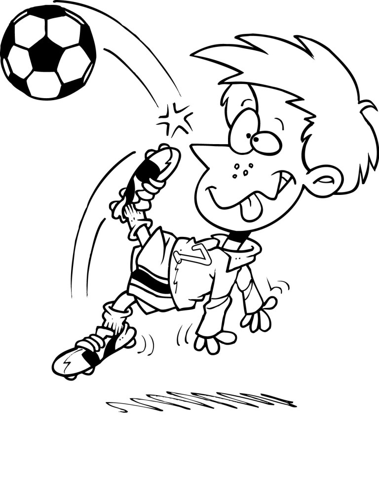 Soccer Coloring Sheet