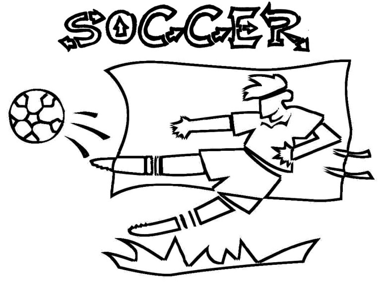 Soccer Colouring Pictures