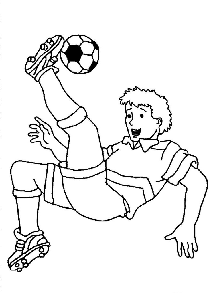 Soccer Pictures To Color