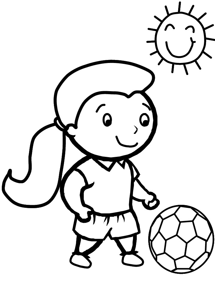 Soccerball Coloring Pages