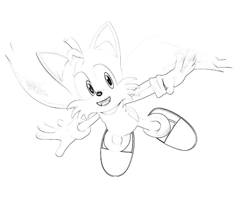 Sonic Coloring Pages Tails