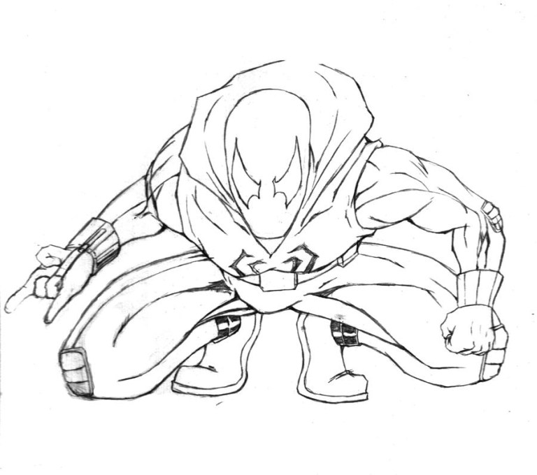 Spider Man Miles Morales Coloring Pages