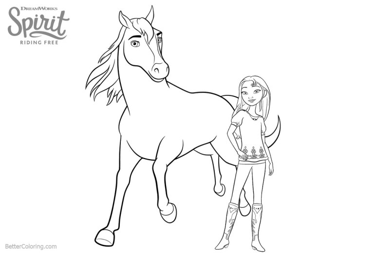 Spirit Coloring Pages Free