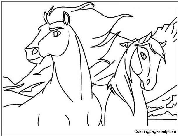 Spirit Horse Coloring Page